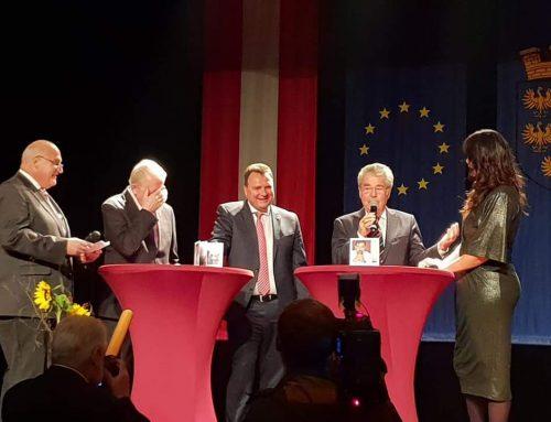 Moderation Bürgermeister Wechsel mit Staatsoberhäuptern